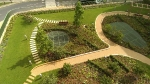 Resin bound footpaths to the Podium Garden at Kidbrooke Garden Village